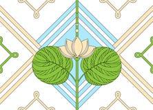 莲花的装饰品 无缝花卉的模式 库存图片