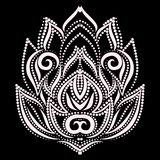 莲花设计 黑白花卉光点图形. 装饰, 衣物.图片