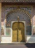 莲花门,普里塔姆Niwas Chowk斋浦尔市宫殿 库存图片