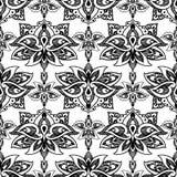 莲花,东部与佩兹利的传染媒介无缝的样式 皇族释放例证