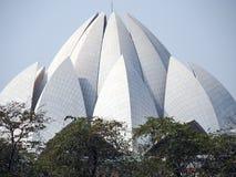 莲花Bahai寺庙在德里印度 图库摄影