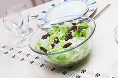 莴苣沙拉 免版税库存图片