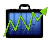获取利润的公文包图表 免版税库存图片