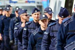 获取波兰民族主义者的示范的警察局 库存图片