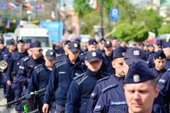 获取波兰民族主义者的示范的警察局 库存照片