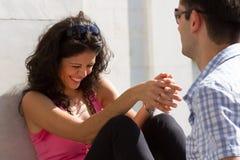 获得新的夫妇乐趣 免版税库存照片