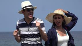 获得的人们跳舞和乐趣在度假 股票录像