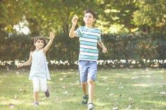 获得的孩子乐趣 库存照片