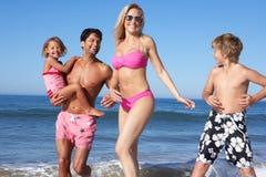 获得的系列在海滩的乐趣 图库摄影