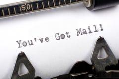 获得的邮件ve您 库存照片