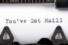获得的邮件ve您 免版税库存照片