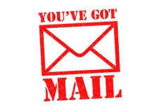 获得的邮件ve您 向量例证