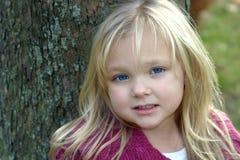获得的babys蓝眼睛 库存图片