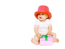 获得滑稽的正面的婴孩乐趣 免版税库存照片