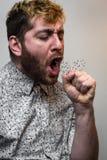 细菌病毒面孔咳嗽 库存图片