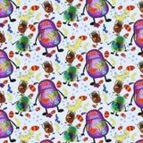细菌仿造无缝的瓦片病毒 图库摄影