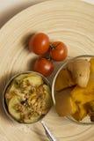 菜丝汤用土豆和南瓜 免版税库存照片