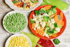 冻菜保留所有营养素 免版税库存照片