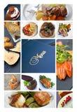 菜单和饭食 免版税库存照片