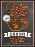 菜单咖啡店的卡片设计 免版税图库摄影