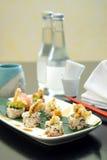菜单寿司 图库摄影