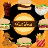 菜单快餐模板设计图表集合 库存图片
