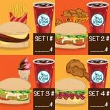 菜单快餐模板设计图表集合 库存照片
