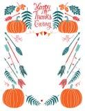 菜单或邀请的愉快的感恩设计卡片 免版税图库摄影