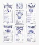 菜单模板。 免版税库存图片
