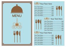 菜单模板设计  免版税图库摄影