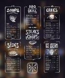 菜单模板 库存图片