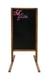 菜单的室外黑板 免版税图库摄影