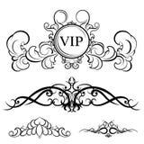 菜单的葡萄酒集合装饰元素 得出s的高雅老手 向量例证