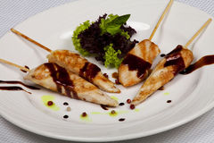 菜单的食物餐馆 免版税库存照片