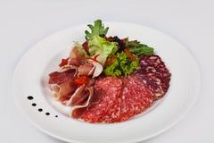 菜单的食物餐馆 免版税图库摄影