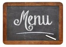 菜单黑板标志 库存图片
