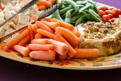 菜和乳酪盘子 库存图片