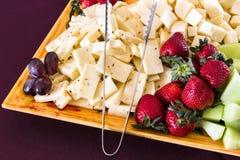 菜和乳酪盘子 免版税图库摄影