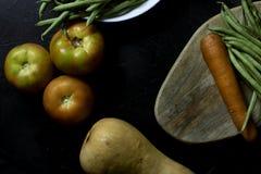 菜和菜从庭院 免版税库存图片