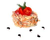 菜和蘑菇沙拉  库存图片