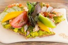 菜和水果沙拉 免版税库存照片