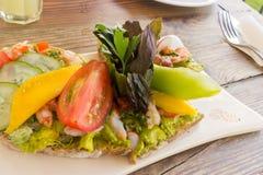 菜和水果沙拉 库存照片