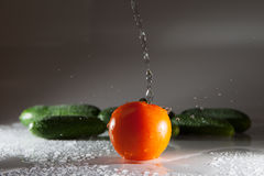 菜和水 免版税库存图片