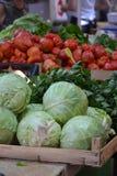 菜在农夫市场上 库存照片
