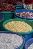 菜在市场上在斯里兰卡 免版税库存图片