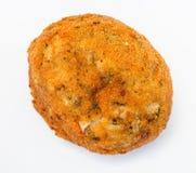菜在板材的被充塞的米饭团arancini 免版税库存图片