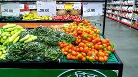 菜在超级市场印度 免版税图库摄影