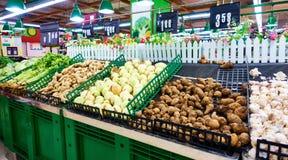 菜在超级市场 免版税库存照片
