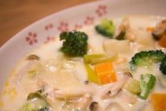 菜奶油色炖煮的食物 免版税库存照片