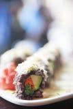 菜寿司卷 免版税库存照片